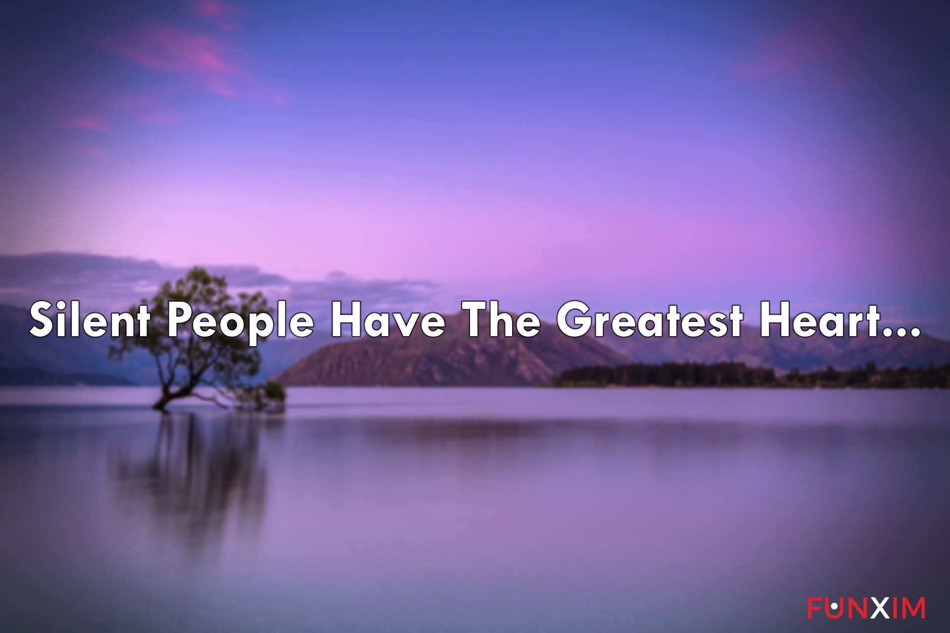 Silent people have the greatest heart.